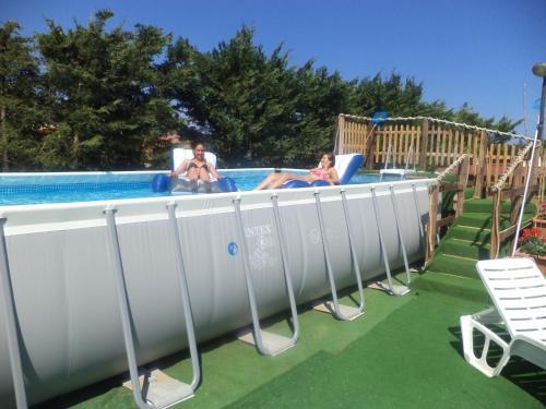 The swimming pool at or near Villa Rogis