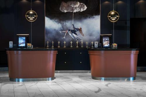 The lobby or reception area at Radisson Blu Scandinavia Hotel Aarhus