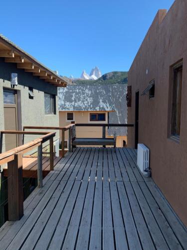 Un balcón o terraza en Guanaca Lodge