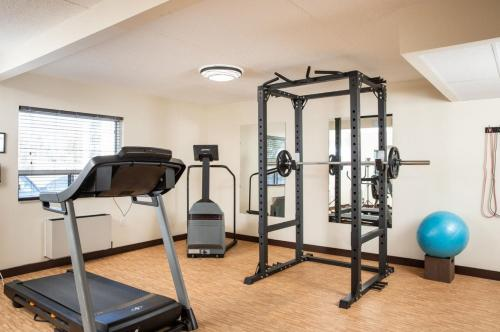 The fitness center and/or fitness facilities at Travelodge by Wyndham Edmonton South