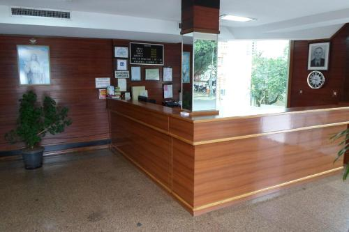 The lobby or reception area at Hotel 15 de Julho
