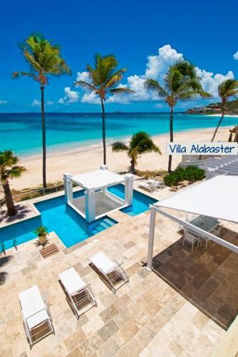 Villa Alabaster ~ Literally Oceanfront Dawn Beach