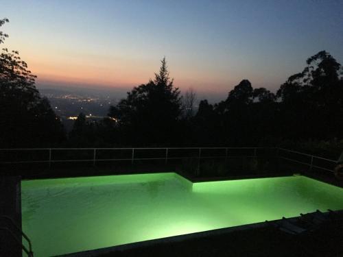 O nascer ou o pôr do sol visto a partir da casa de férias