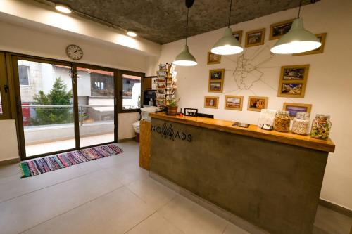 The lobby or reception area at Nomads Hotel