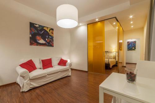 A seating area at Castro Pretorio & Sallustiano Lovely Flat