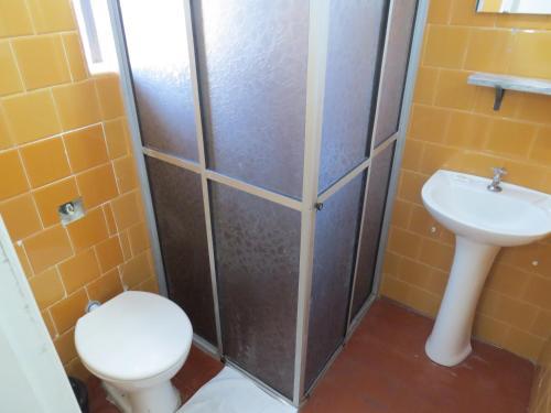 A bathroom at City Hotel