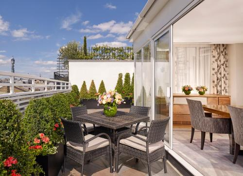 A balcony or terrace at The Westbury Mayfair, a Luxury Collection Hotel, London