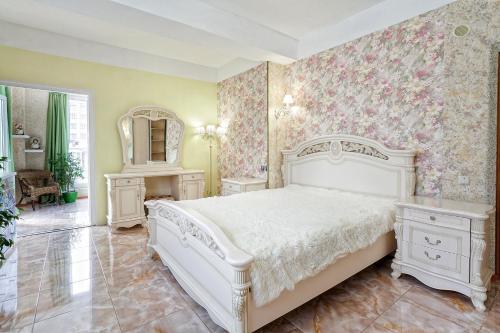 Кровать или кровати в номере Aparthotel Family
