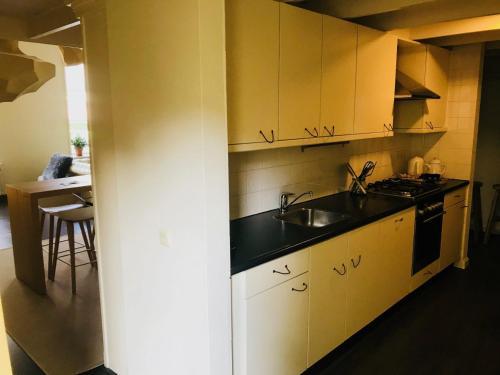 A kitchen or kitchenette at Hotel in het huis van Deventer