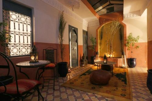 A seating area at Riad Ivissa