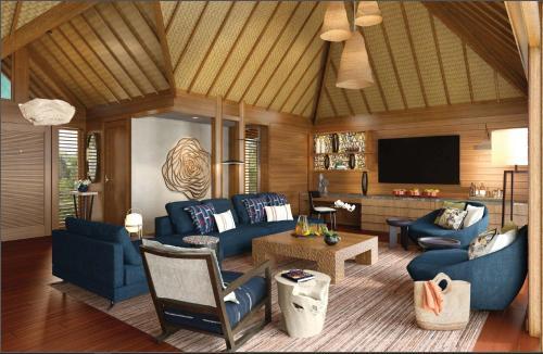 Uma área de estar em Four Seasons Resort Bora Bora