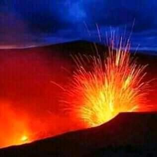 Volcano and romantic view