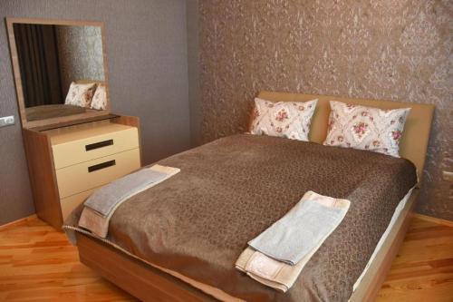 Cama ou camas em um quarto em Qorxmaz kicik villa