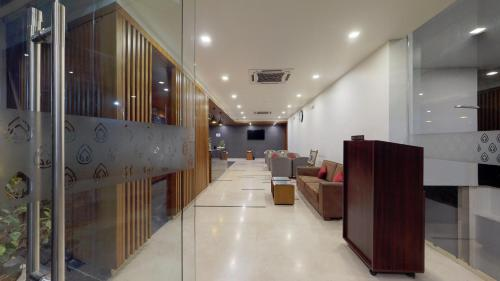 The lobby or reception area at Shivas Gateway