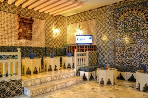 Een restaurant of ander eetgelegenheid bij Hotel Aziza Thalasso Golf Adult Only