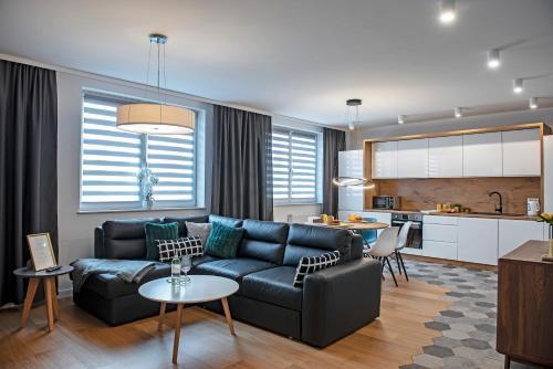 Posezení v ubytování 3D KOSCIUSZKI 19 Apartament