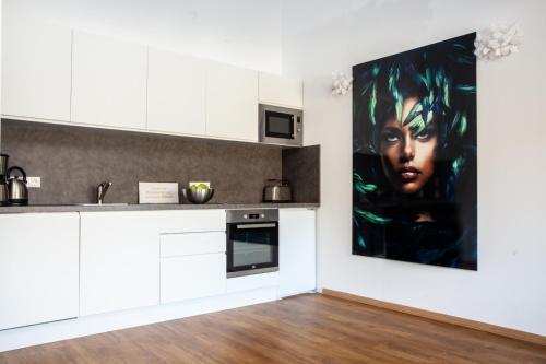 Küche/Küchenzeile in der Unterkunft IchZeit Aparthotel