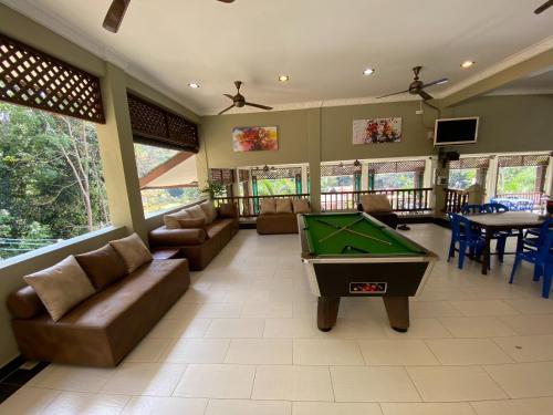 A pool table at Redang De' Rimba