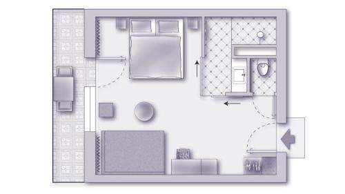 The floor plan of Sonnenhotel Weingut Römmert