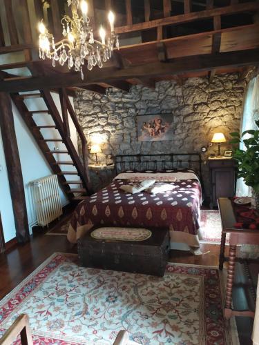 Cama o camas de una habitación en Posada de Pedreña