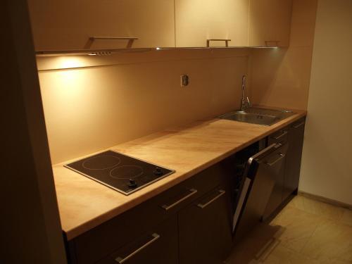 Kuchnia lub aneks kuchenny w obiekcie Apartament Na Tęczowym Wzgórzu