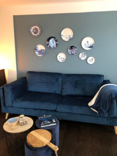 A seating area at Blue Harbour Appartement near Amsterdam