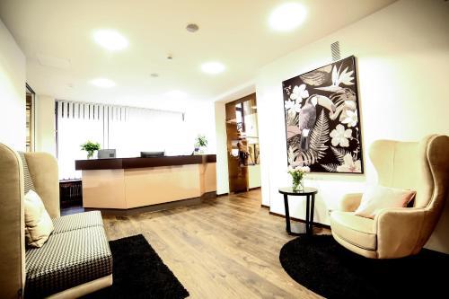 The lobby or reception area at City Partner Hotel Berliner Hof