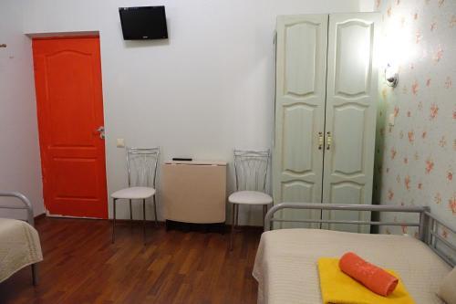 Кровать или кровати в номере Бон-Аппарт на Малой Морской
