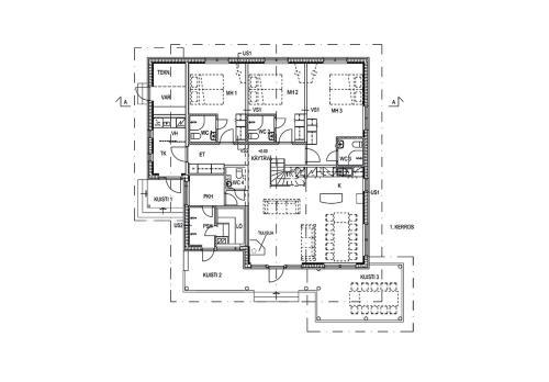 The floor plan of Tallusniemi Villas