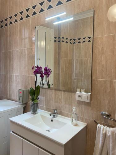 A bathroom at Pensión Hedrass