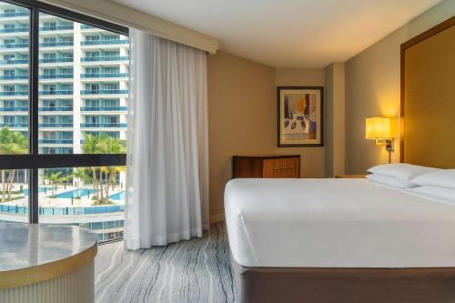 Säng eller sängar i ett rum på Hyatt Regency Miami
