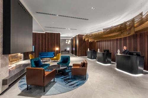 A seating area at Crowne Plaza Christchurch, an IHG Hotel