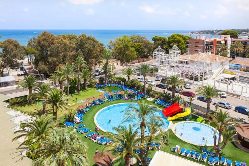 A view of the pool at Port Denia or nearby