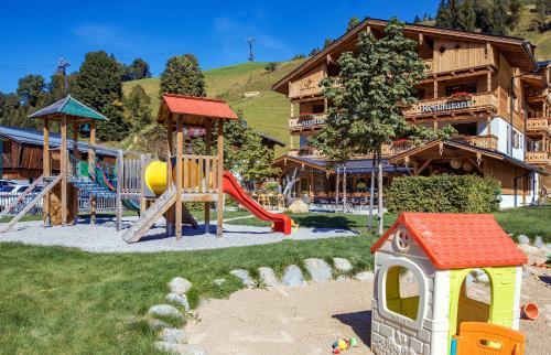 Children's play area at Appartements Liebe Heimat