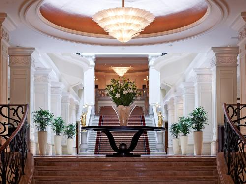 The lobby or reception area at Corinthia Budapest