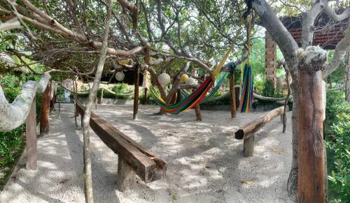 Children's play area at Pousada Rancho das Dunas