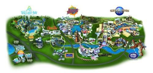 Uma vista aérea de Universal's Loews Sapphire Falls Resort