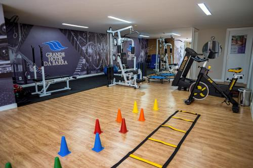 The fitness centre and/or fitness facilities at Grande Hotel da Barra