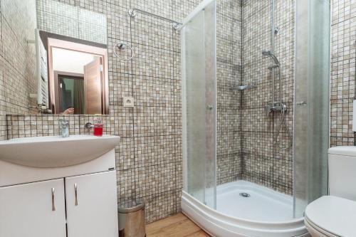 "Ванная комната в База отдыха ""Заостровье"""