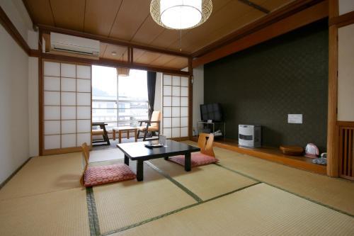 A seating area at Kiso Mikawaya