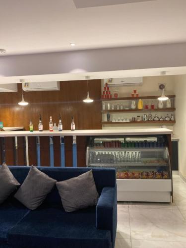 O saguão ou recepção de Restin Hotel