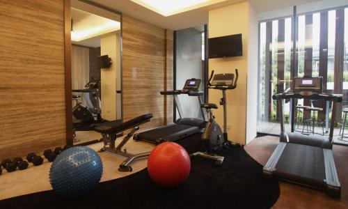 The fitness centre and/or fitness facilities at Ashley Wahid Hasyim Jakarta