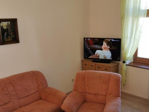 """TV/Unterhaltungsangebot in der Unterkunft Ferienwohnung """"Zur Kleinbahn"""""""