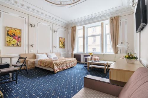 Zona de estar de Aleksandr Hotel