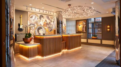 The lobby or reception area at Hard Rock Hotel Dublin