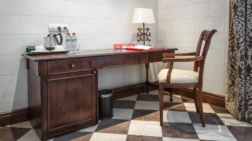 Кухня или мини-кухня в Отель Богатырь