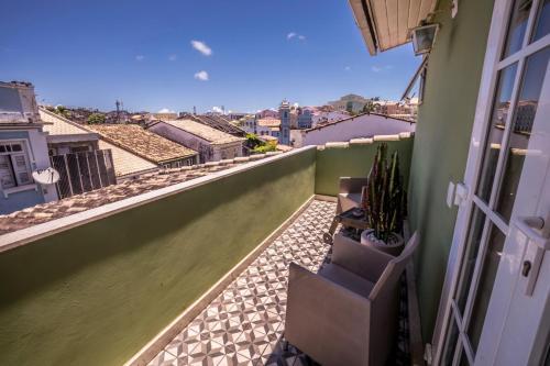 A balcony or terrace at Pousada Bahia Pelô