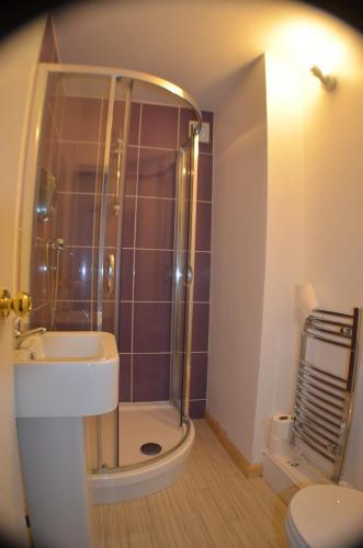 A bathroom at Birchfields Guest House