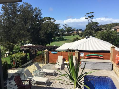 A view of the pool at Mollymook Apartment on Golf or nearby