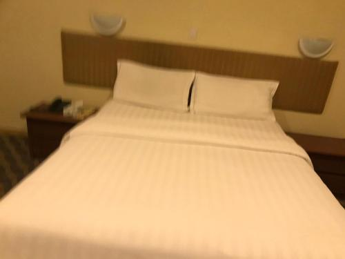 Cama ou camas em um quarto em OYO 443 Safari Al Khaleej